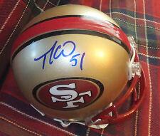 TAKEO SPIKES SF 49ers Autographed Mini Helmet including BDS COA