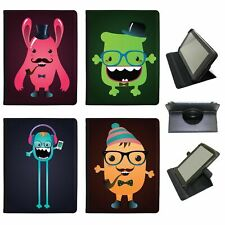 Funny Freak Hipster Trendy Monsters Universal Leather Case For Samsung Tablets