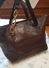 borsa donna Antonelle shopper manici lunghi gioiello marrone media bellissima