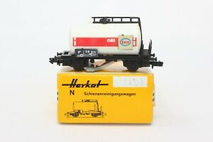 N Scale Herkat 1403 DB Esso Tank Track Cleaning Car