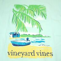 Vineyard Vines Short Sleeve Pocket T-Shirt Womens Size XS Teal Blue Beach Time