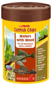 38g Sera Catfish Chips Wafers with Wood 100ml Fish Food Ornamental Aquarium Tank
