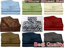 Home Bedding Sheet set 4 PCs 600 TC Egyptian Cotton Extra Size With Multi Color