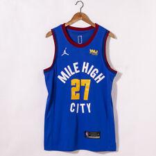 Men's Denver Nuggets #27 Jamal Murray Blue 2021 Brand Jordan Swingman Jersey