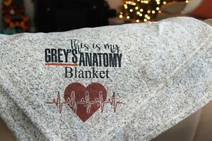 """Greys Anatomy watching blanket 50"""" by 60"""""""