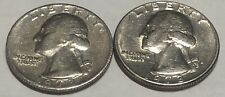 1973 P and D 2 Coin Washington Quarters Set In Great Condition