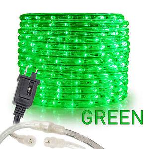 Green LED Rope Lights 10' 25 50 100 150ft, Connectable Indoor Outdoor Waterproof