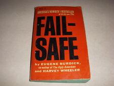 FAIL-SAFE by EUGENE BURDICK & HARVEY WHEELER, DELL #2459, 1ST, 1963, VINTAGE PB!