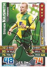 STEVEN NAISMITH SIGNED NORWICH 2015/2016 MATCH ATTAX 'EXTRA' TRADING CARD+COA