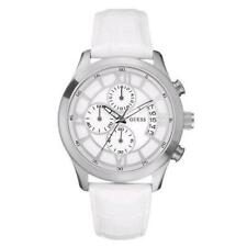 Guess Orologio Capitol Pelle Bianco Data Cronografo W12101G1 Uomo Unisex Watch