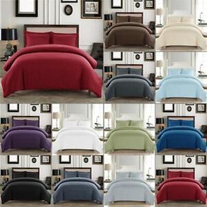 1000 TC Egyptian Cotton 3 PC Duvet Cover Set+Flat Sheet US Full XL & Solid Color