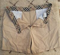 BURBERRY London NOVACHECK MEN'S SHORTS Beige Cotton Short Swim Trunk Board Sz 56