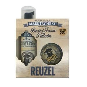 Reuzel Toilettage Set 2-tlg Bois & Spice ,Set de Cadeau Bartschaum & Baume à