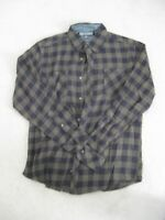 NWOT PD&C men's long sleeve collared plaid flannel shirt Size Medium