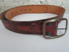 """Full Grain Steerhide Leather Belt Embossed Pattern Size 34 - 1.5"""" wide"""