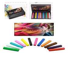 non toxic hair pastel chalk Dye your hair ,Temporary Hair Colour (12 Colours)