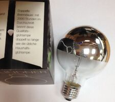 Lindner globlampe G80 E27 kuppenverspiegelt PLATA 60w Ø 80mm Bombilla Lámpara
