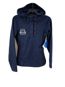 Columbia Kentucky Derby Jacket Hoodie Women's XS Navy Blue Pullover New