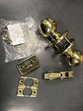 Design House 740803 Ball Knob Privacy Lock Polished Brass