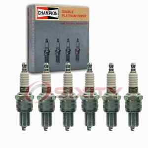 6 pc Champion Double Platinum Spark Plugs for 1950-1952 Austin Sheerline kq