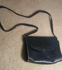Vintage Black Crossbody Leather Bag - Worn leather shows a lot of love!