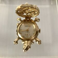 Vintage Sheffield Turtle Watch Brooch, one of a collectible series; not running