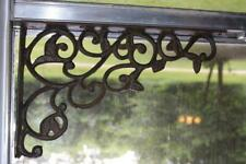 Farmhouse Window Treatment Cast Iron Corner Corbels, 12 inch, - B-14