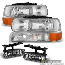 1999-2002 Chevy Silverado 00-06 Suburban Tahoe Headlights+Bumper Lamp+Fog Lights