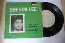"BRENDA LEE""HE'S SO HEAVENL-DISCO 45 GIRI 7' BRUNWICK It 1965"" PROMO"
