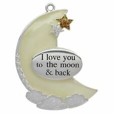 New Harvey Lewis Swarovski Ornament I Love you to the Moon & Black Ornament