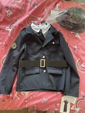 Kids Police Officer Top And Hat Age 7-8