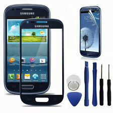 New Front Touch Screen Glass Lens Digitizer For Samsung Galaxy S3 i9300 Blue
