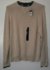 NWT Sean John crew neck oatmeal beige color sweater sz L