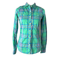 The North Face Womens Plaid Button Down Long Sleeve Shirt Blouse Size XS