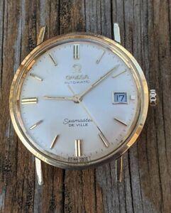 Vintage Gents Gold Filled Omega Seamaster DeVille Watch, Running!!