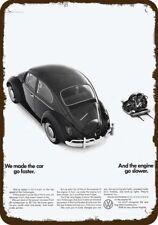 1966 VOLKSWAGEN BEETLE VW BUG Car & ENGINE Vintage Look REPLICA METAL SIGN