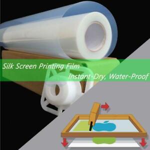 """Waterproof Inkjet Instant-Dry Silk Screen Printing Transparency Film 30""""x100ft"""