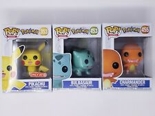 Funko Pokemon Pop! [PIKACHU x BULBASAUR x CHARMANDER] Target Exclusive LOT of 3