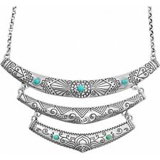 NWT Brighton NAVAJO Indie Collar Necklace Triple Bar Turquoise Blue MSRP $78