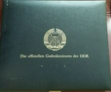 DDR GERMANY LOT OF 18 COINS 5, 10 AND 20 MARKS SET WITH COLLECTIBLE BOX RARE SET