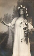 1911 Man Dressed as Woman Siska de Trezau Ideal Photo Emile Bauwens Belgium RPPC