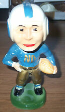 Vintage 1940's Blue / Gold with Gold ND Notre Dame Moyer Football Statue / Bank