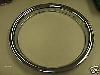 "15"" Chrome Trim Beauty Rings Hubcaps 1 1/2"" Deep New Set of 4 Rallye"