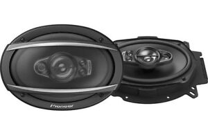 "Pioneer TS-A6970F car audio 6 x 9"" stereo 5-way 4 Ohm 600 watt RMS Speakers PAIR"