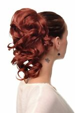 Hair Piece/ Pigtail Wavy Medium Length 35 cm 1 Comb + Elastic Band Red Copper
