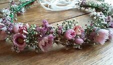 Fatto a mano floreale Circlet Matrimonio Capelli Testa Pezzo Fiore Corona Nuziale Halo essiccati