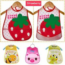 Cloth Infants Kids Plastic Cartoon Lunch Turn Waterproof Baby Towel Bibs