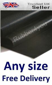 Dog Kennel Cage Pen Boot Floor FINE Ribbed Runner Rubber Matting 1200 wide x 3mm
