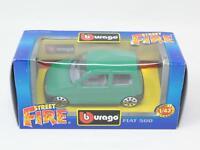 1:43 BURAGO BBURAGO STREET FIRE #4193 FIAT 500 NIB [PM3-045]