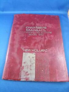 NEW HOLLAND SELF PROPELLED COMBINE 975 OWNERS MANUAL FARM MACHINE EQUIPMENT 1967